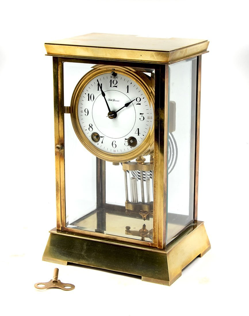 SETH THOMAS CRYSTAL REGULATOR MANTLE CLOCK