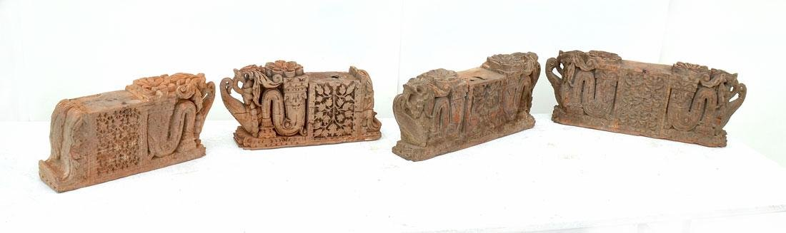 4 CARVED WOODEN ARCHITECTURAL SUPPORTS