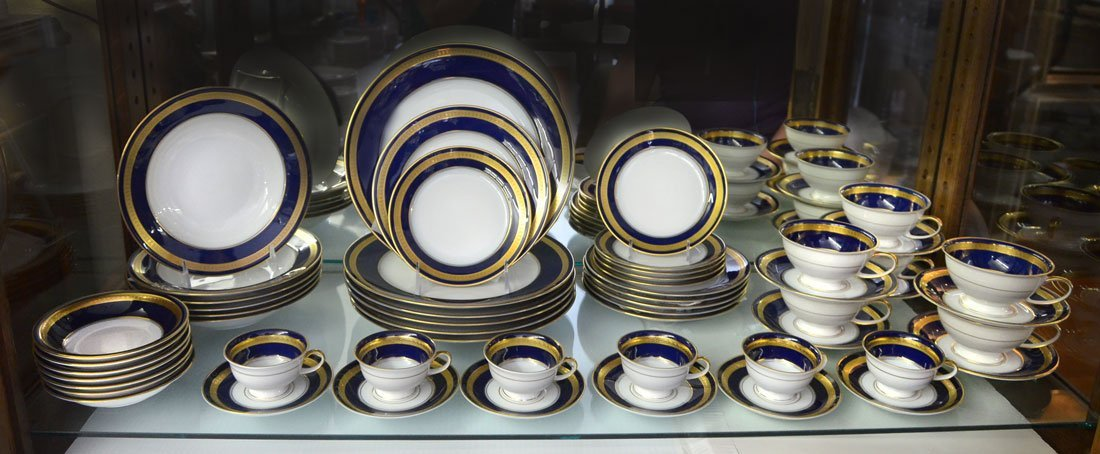 ROSENTHAL EMINENCE COBALT BLUE DINNER CHINA FOR 6