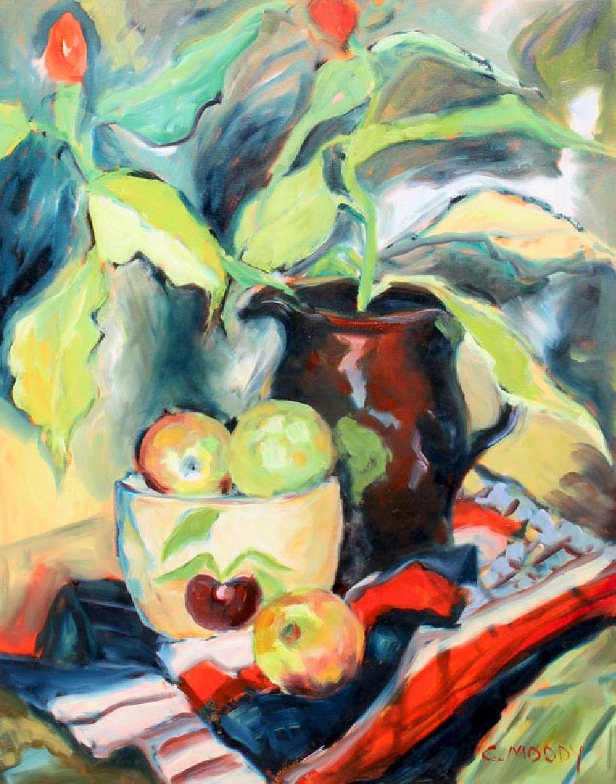 CHERYL MOODY BROWN PITCHER PAINTING