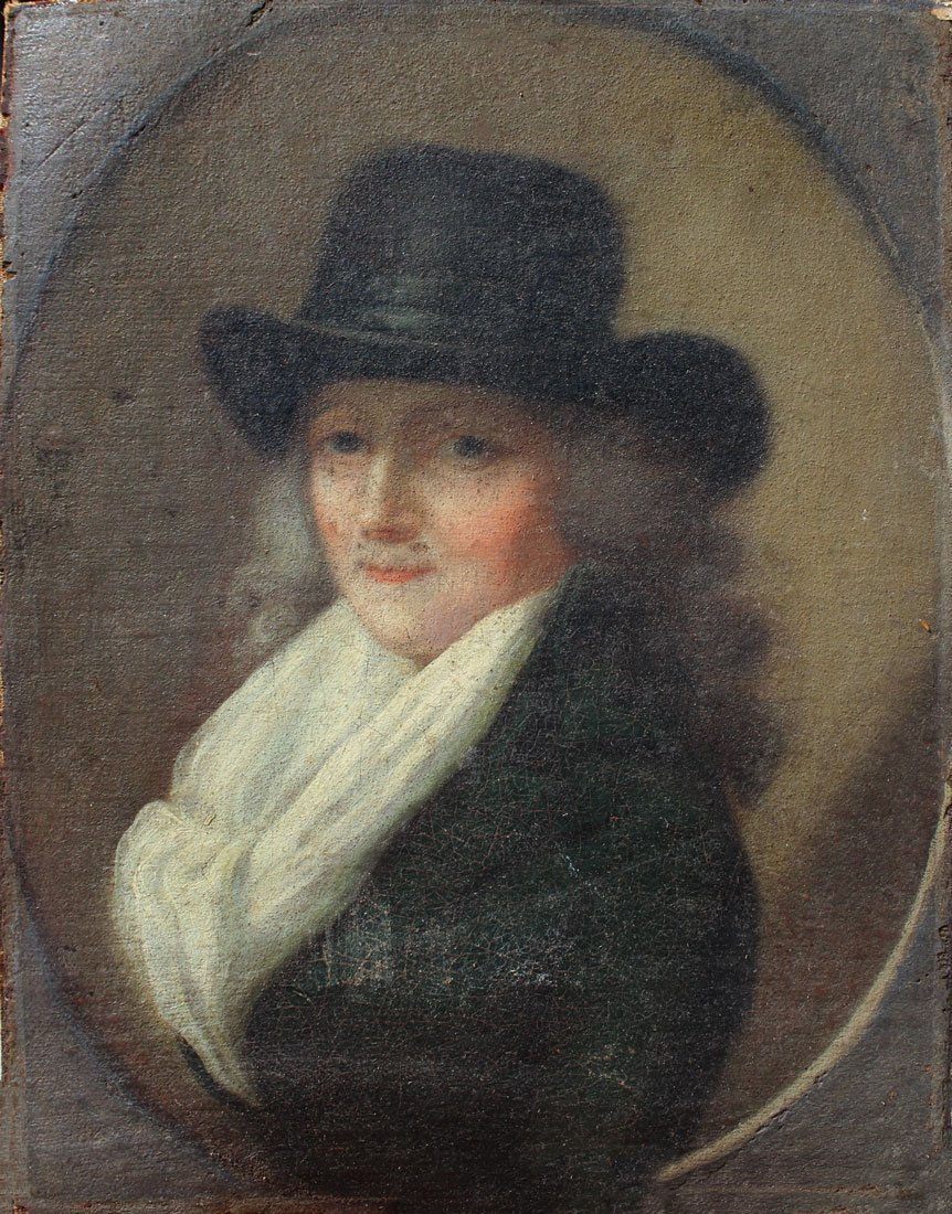 EARLY PORTRAIT PAINTING OF A WELL TO DO WOMAN