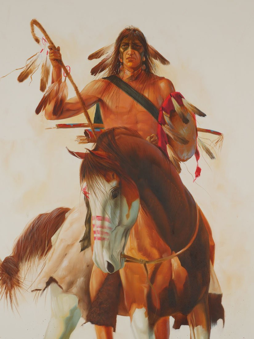 GARY MONTGOMERY AMERICAN INDIAN PAINTING