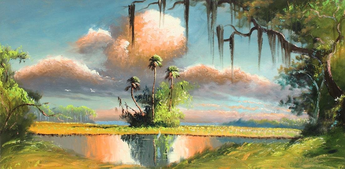 SAM NEWTON FLORIDA HIGHWAYMEN BACKWATERS PAINTING