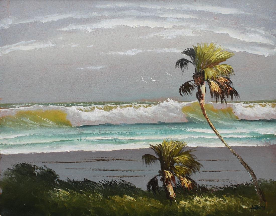LIVINGSTON ROBERTS FLORIDA HIGHWAYMEN PAINTING