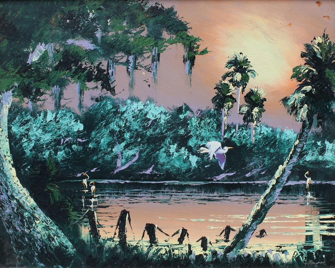 JOHN MAYNOR FLORIDA HIGHWAYMEN BACKWATERS PAINTING