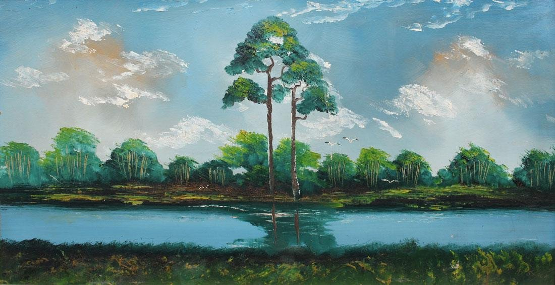 AL BLACK FLORIDA HIGHWAYMEN BACKWATERS PAINTING