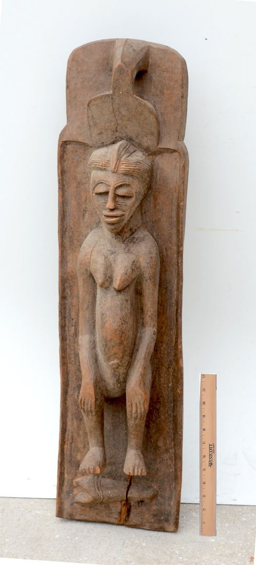WEST AFRICAN CARVED BEDDED FIGURE
