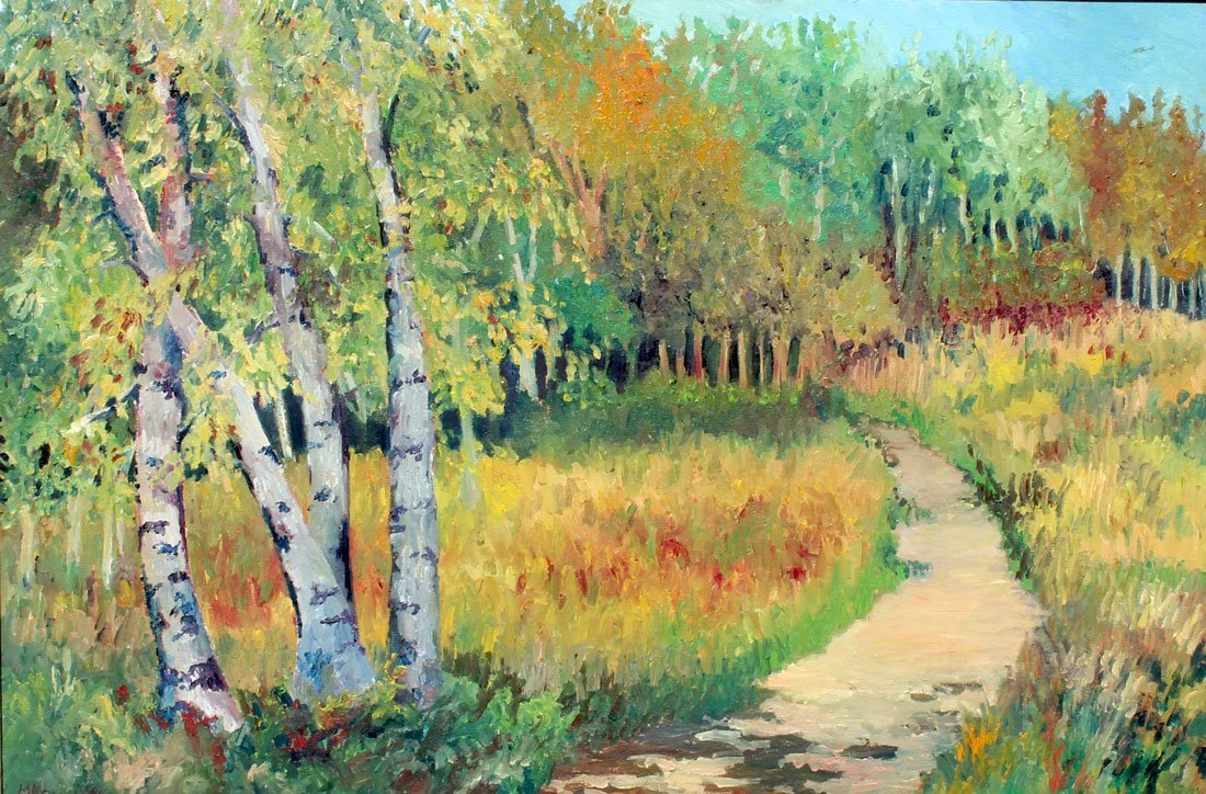 MAGGIE KRUGER DOOR COUNTRY FALL PAINTING