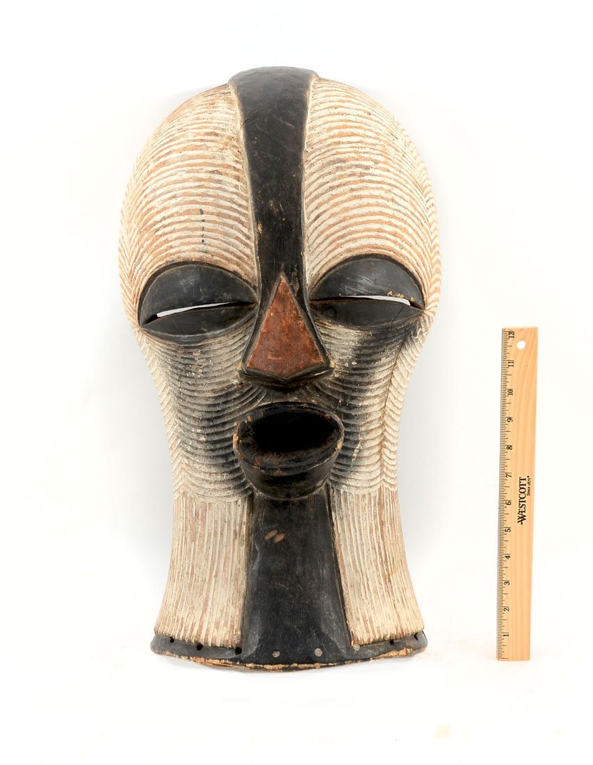 CENTRAL AFRICAN SONGYE KIFWEBE CARVED MASK
