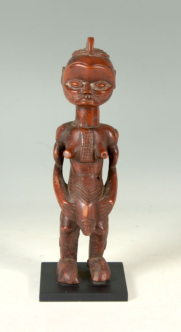 WEST AFRICAN ATTIE CARVED MATERNITY FIGURE