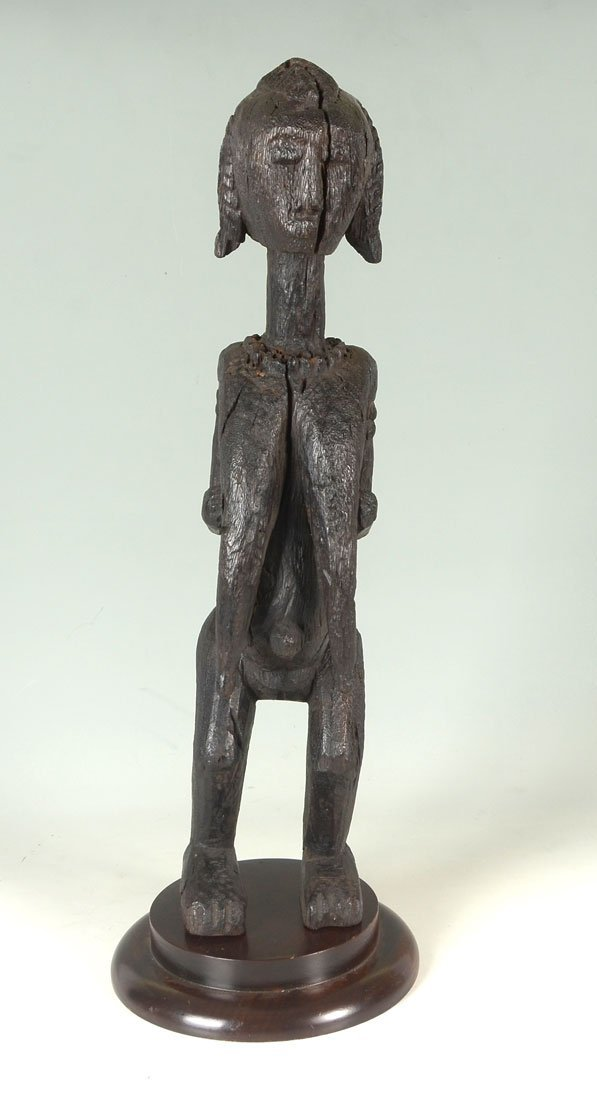 WEST AFRICAN BAMBARA CARVED FEMALE FIGURE