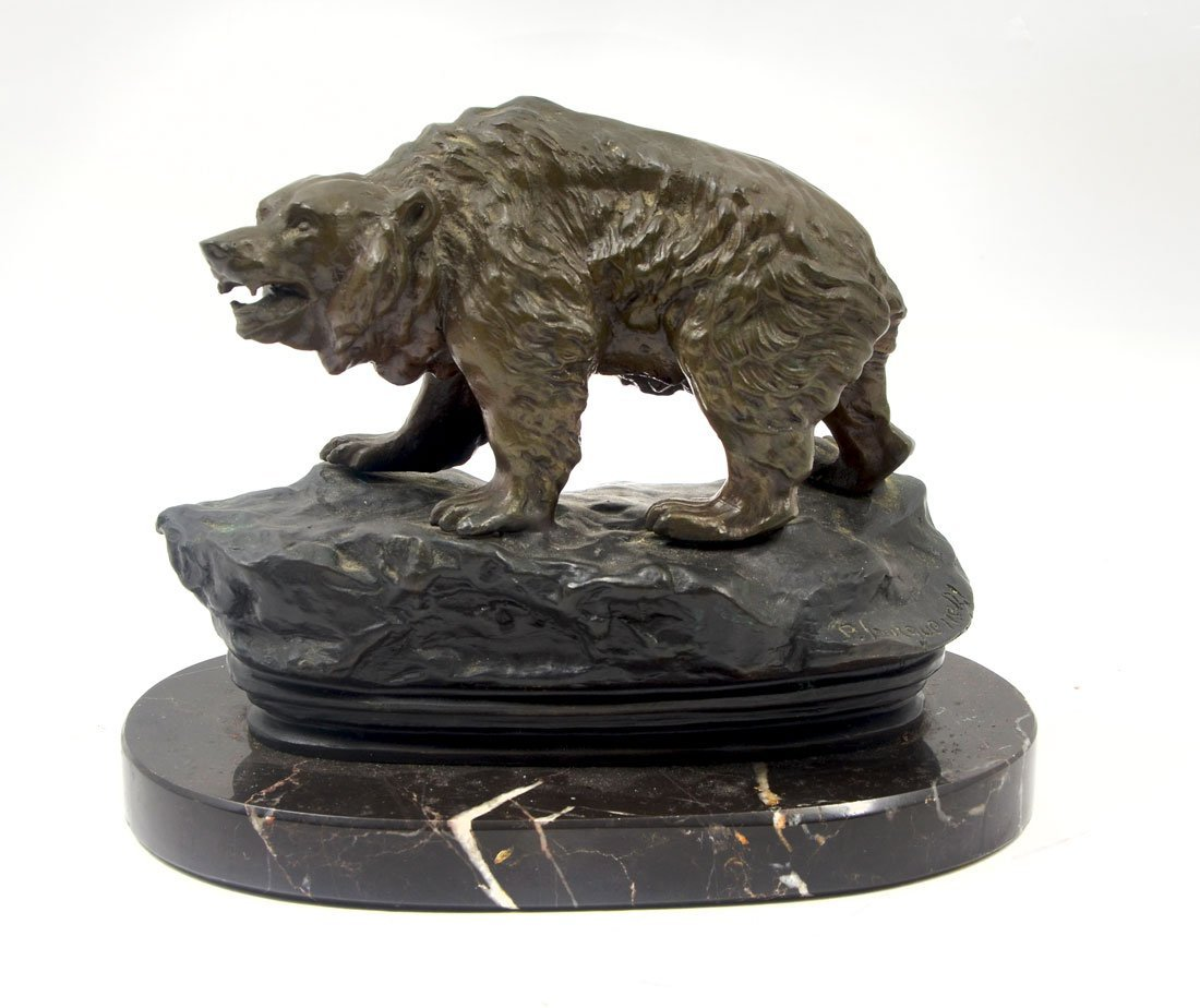 PIERRE TOURGUENEFF GROWLING BEAR BRONZE