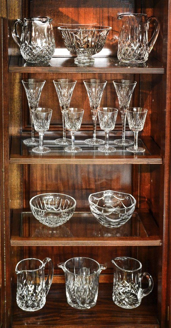 16 PIECE ASSEMBLED COLLECTION OF WATERFORD CRYSTAL