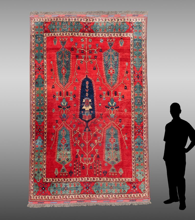 "TURKISH HK WOOL RUG, 7'4"" X 10'5"""