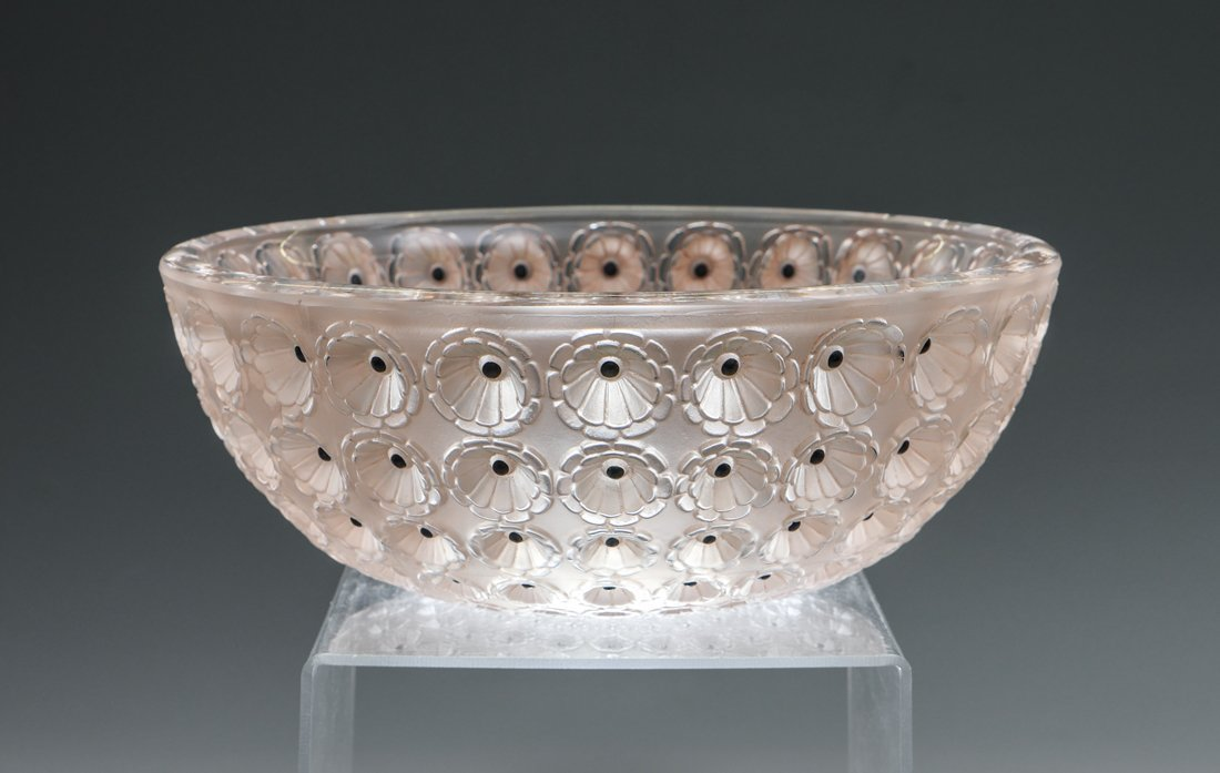 NEMOURS LALIQUE ART GLASS BOWL