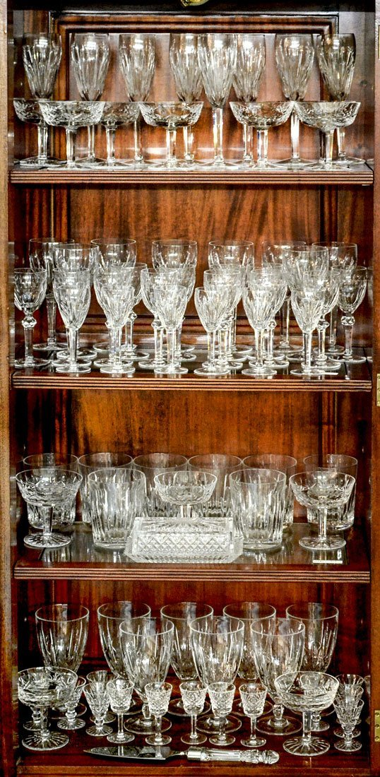 MASSIVE COLLECTION OF WATERFORD CRYSTAL STEMWARE