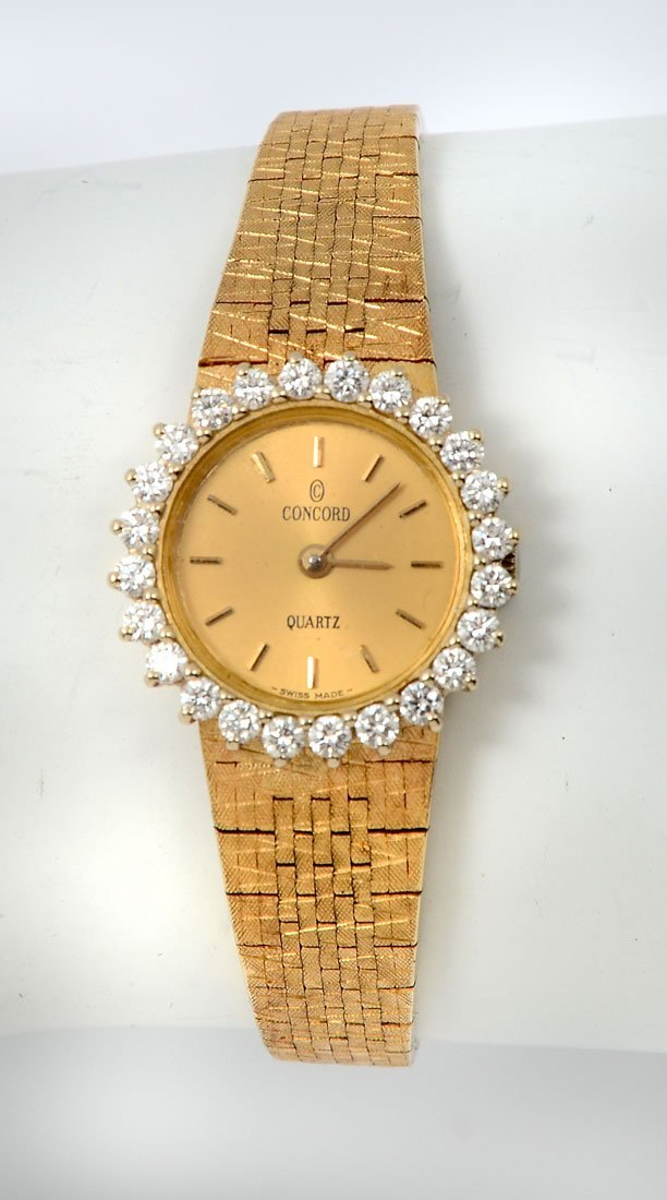 14K LADY'S CONCORD DRESS WATCH