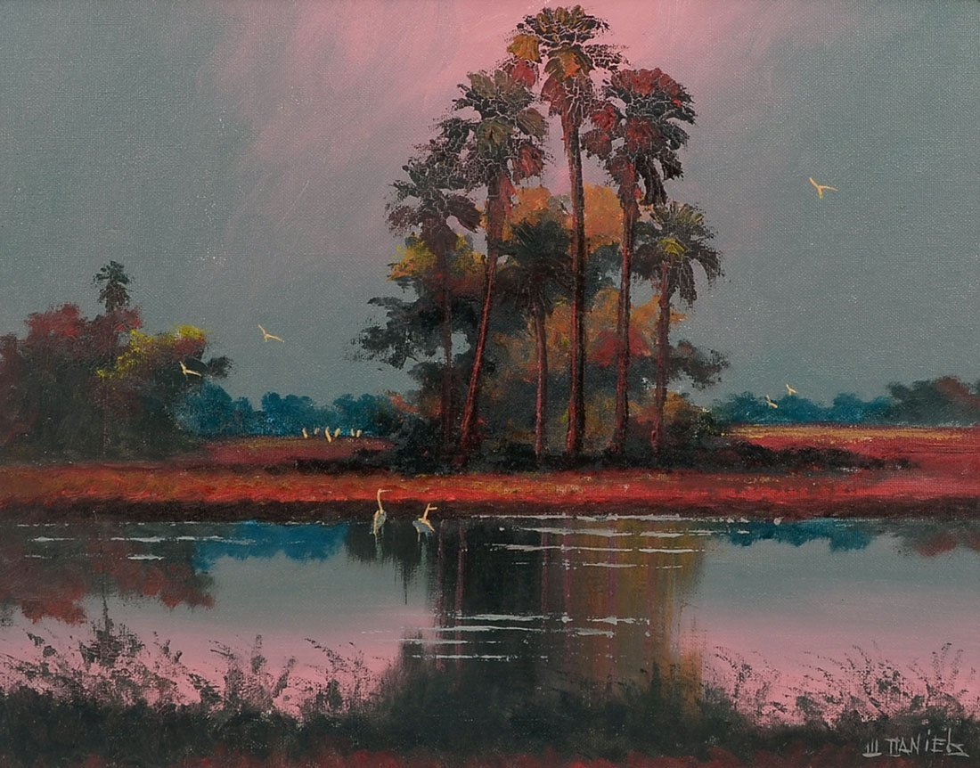 WILLIE DANIELS FLORIDA HIGHWAYMEN PAINTING