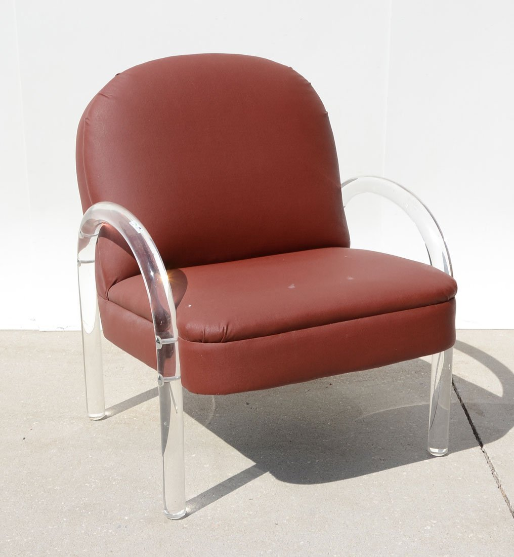 BRIAN REALE FOR PACE LUCITE CHAIR