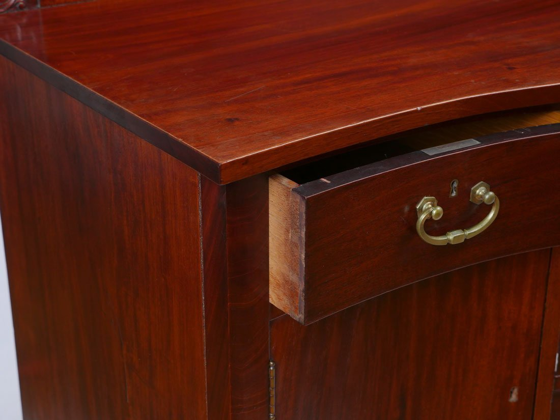EARLY 20TH CENTURY MAHOGANY BOWFRONT SIDEBOARD