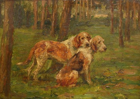 1010: MAUD EARL PAINTING OF BARON JAUBERTS DOGS