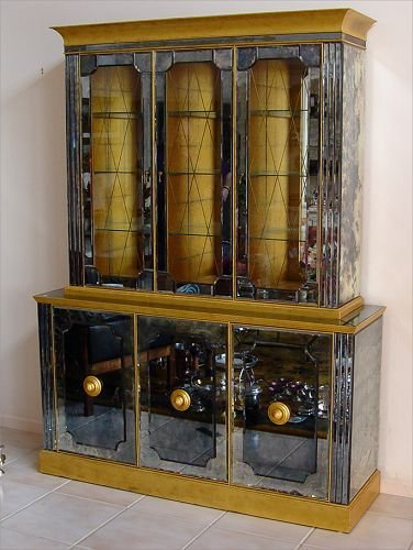 1014: MIRRORED CHINA CABINET