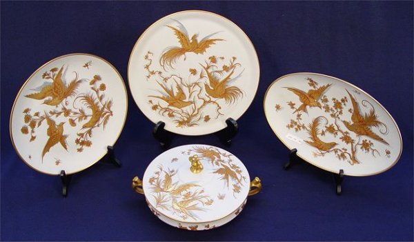 1016: 4 PC LE TALLEC PORCELAIN PARIS FRANCE