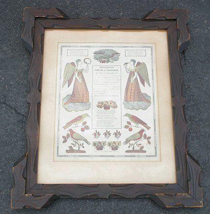PENNSYLVANIA DUTCH FRAKTUR 1859, LANCASTER CO