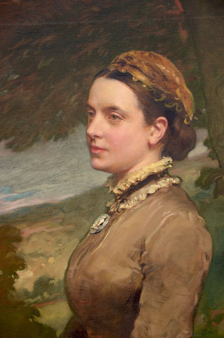 IMPORTANT JAMES SANT PAINTING GREAT FRAME - 2