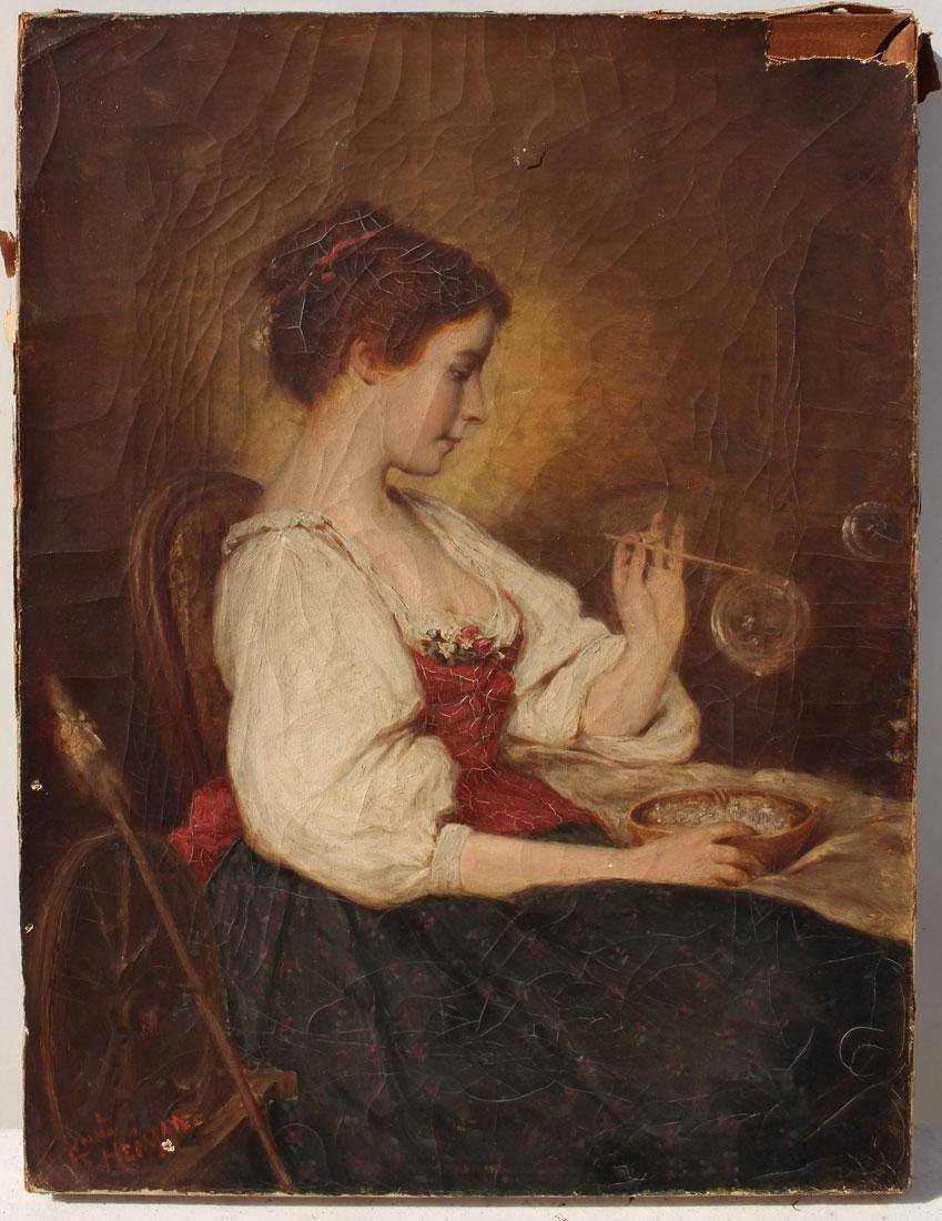 19TH CENTURY FEMALE BUBBLE BLOWER HEIMAN