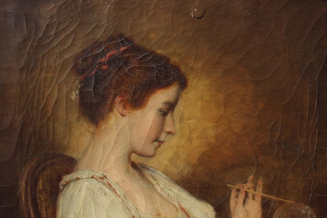 19TH CENTURY FEMALE BUBBLE BLOWER HEIMAN - 2
