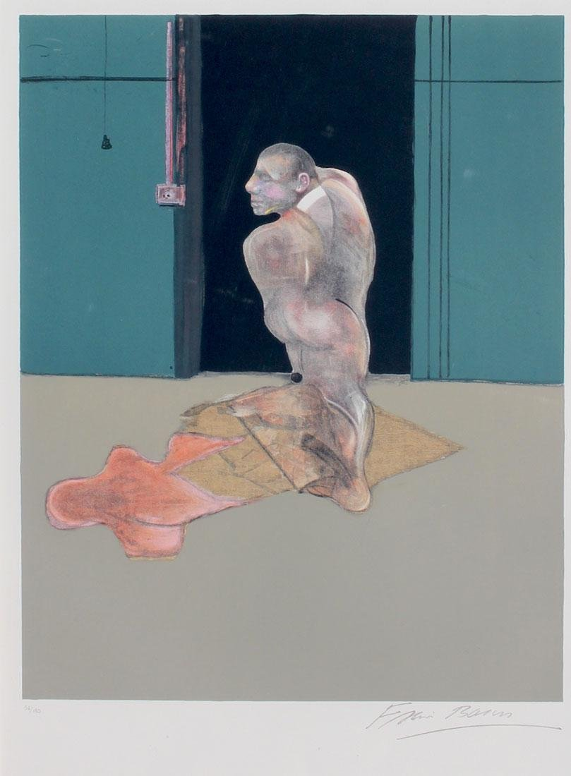 FRANCIS BACON LITHOGRAPH STUDY FOR A PORTRAIT OF JOHN