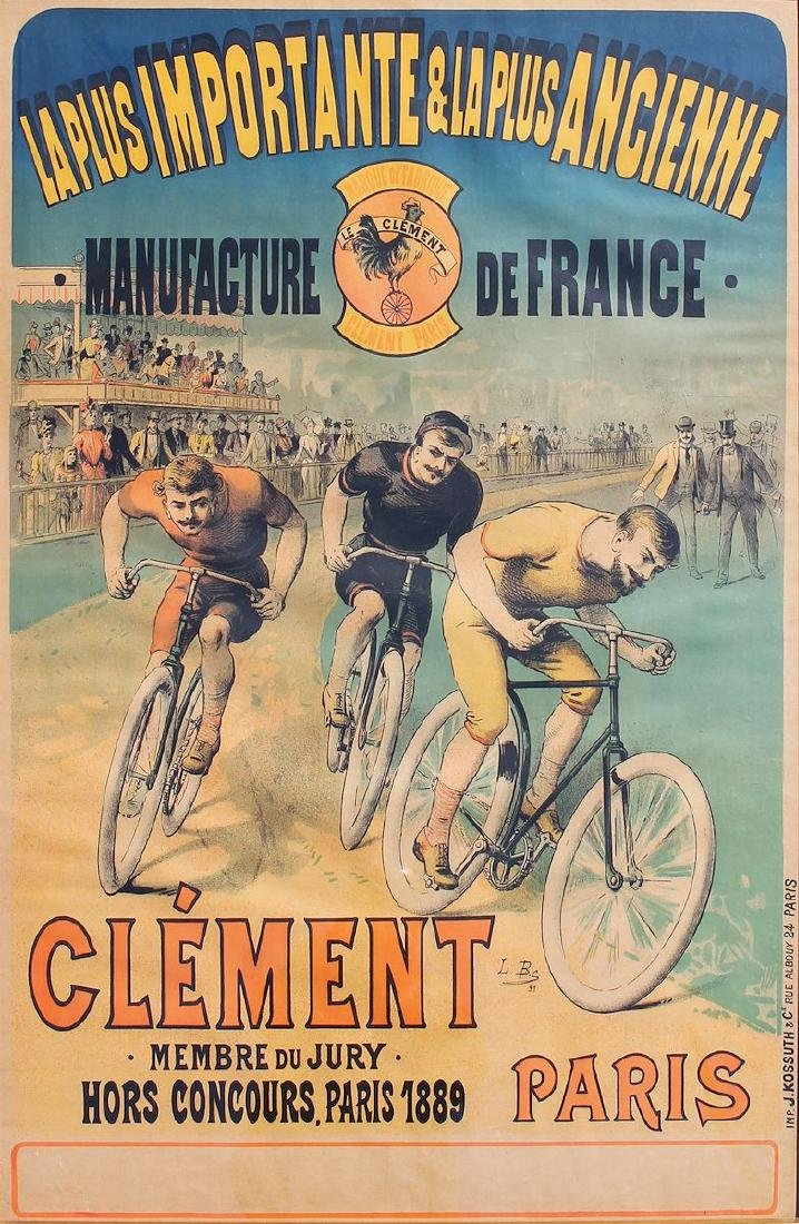 CLEMENT/IMPORTANTE & ANCIENNE MANUFACTURE POSTER, 1891
