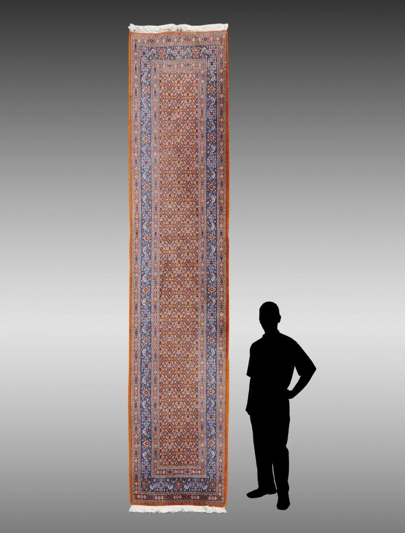 INDO-PERSIAN HK WOOL RUNNER, 3'2'' X 13'3''