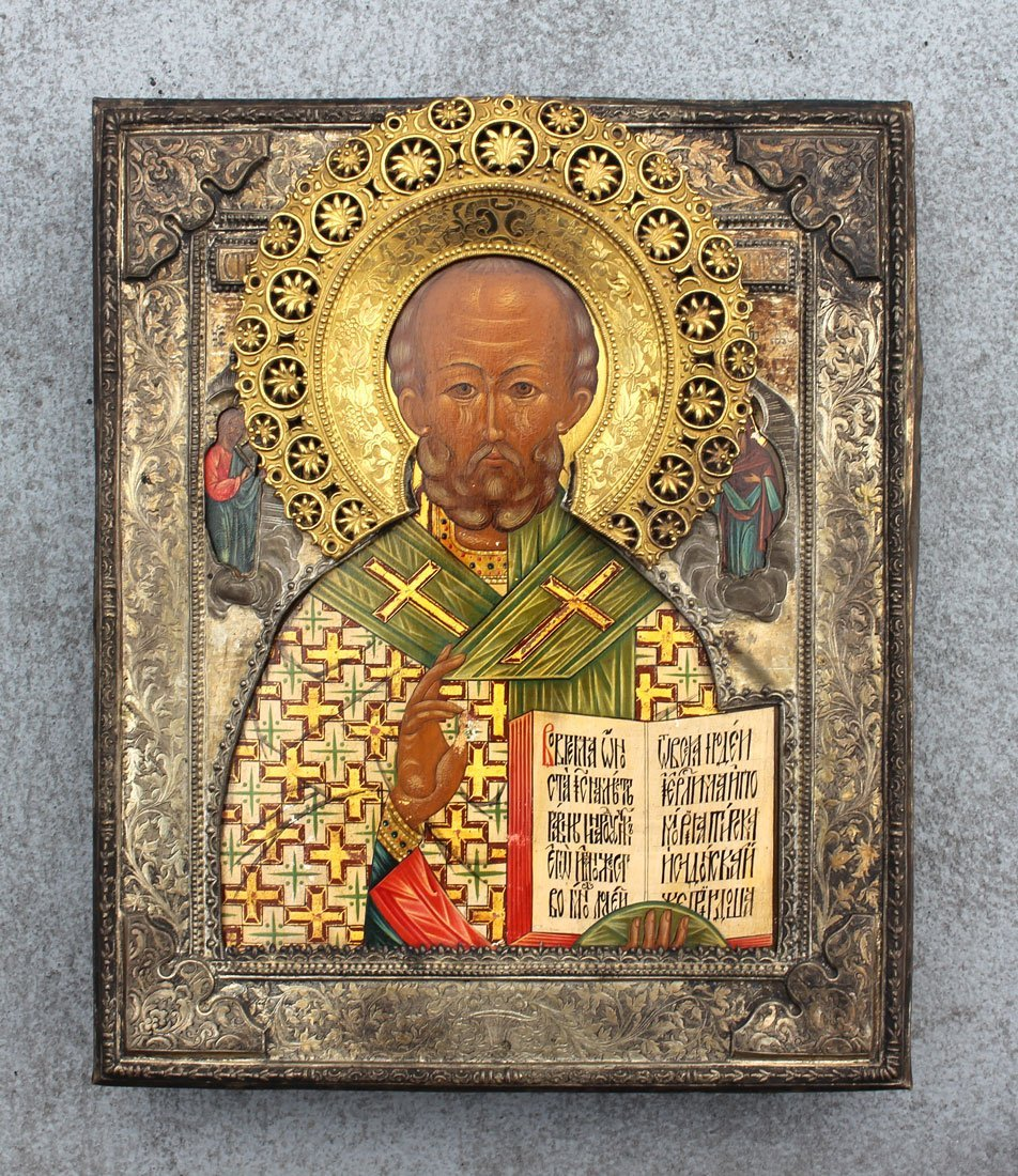 EARLY RUSSIAN ICON OF ST. NICHOLAS
