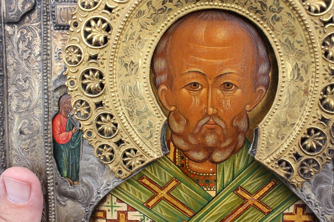 EARLY RUSSIAN ICON OF ST. NICHOLAS - 2