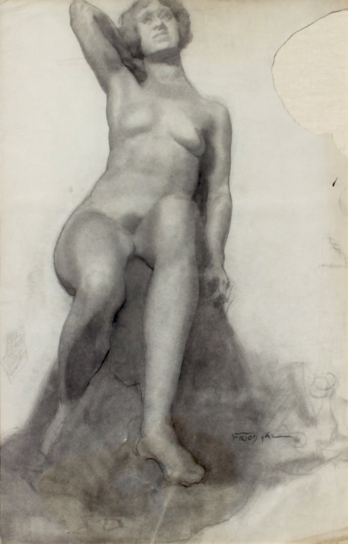 PAL FRIED FEMALE NUDE DRAWING
