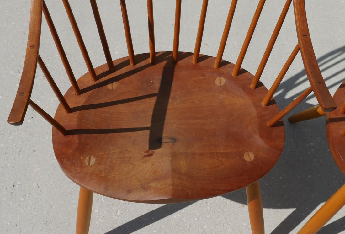 2 THOMAS MOSER SIGNED CONTINUOUS ARM CHAIRS - 2