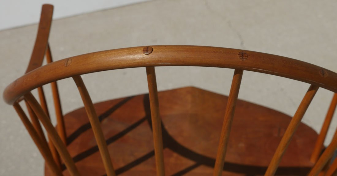 2 THOMAS MOSER SIGNED CONTINUOUS ARM CHAIRS - 3