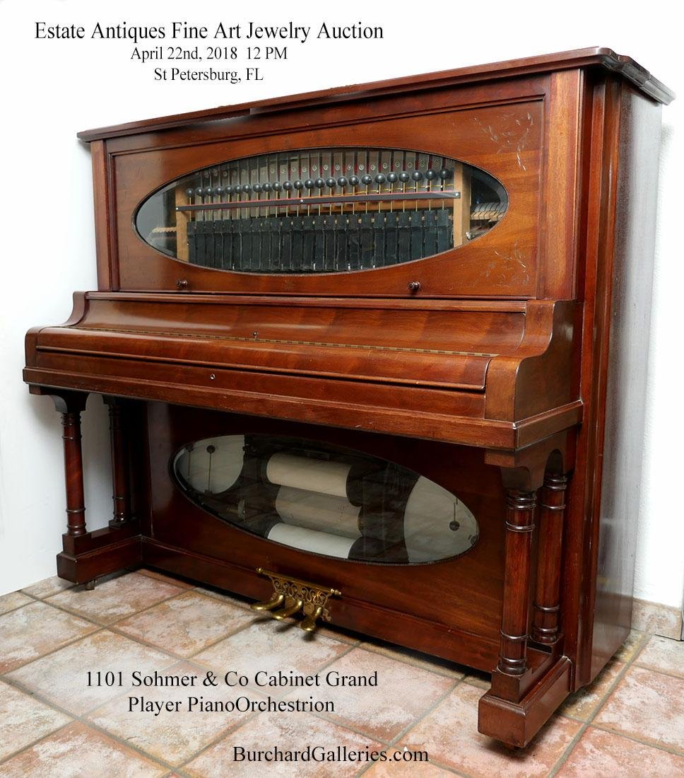 SOHMER & CO., N.Y. CABINET GRAND PLAYER PIANO