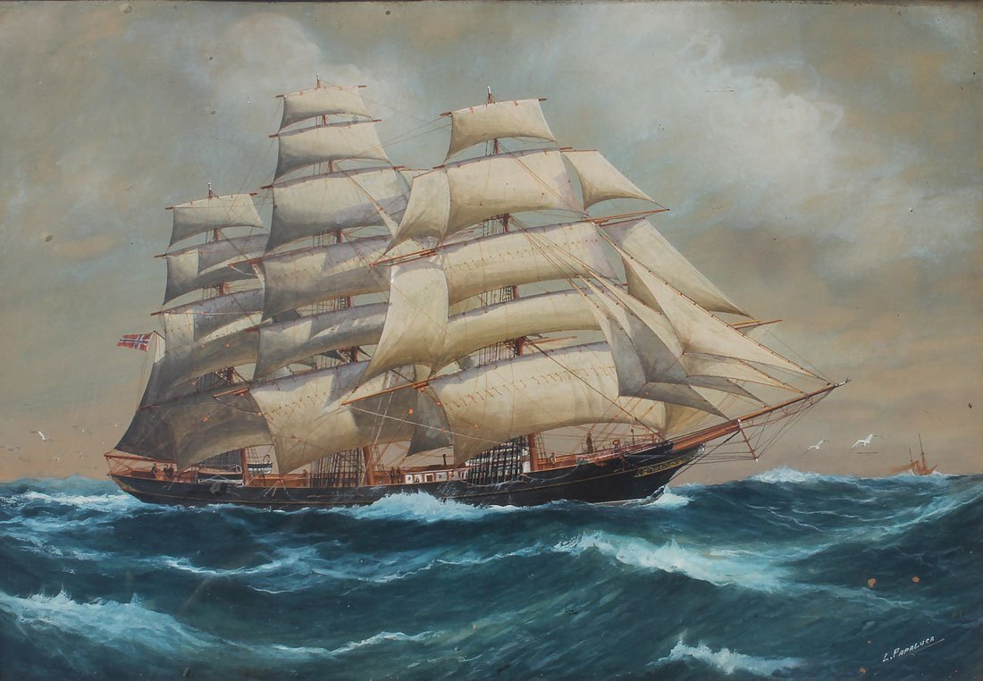 LUCA PAPALUCA CLIPPERSHIP PAINTING
