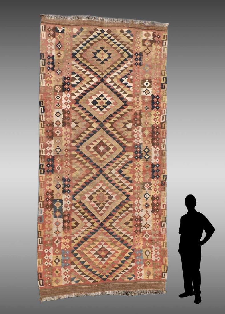 KURDISH PERSIAN FLAT WEAVE/REVERSIBLE HAND-WOVEN RUG