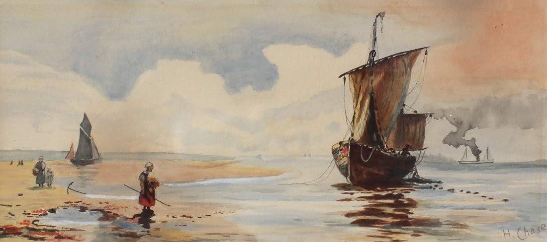 HARRY CHASE DUTCH BEACH PAINTING