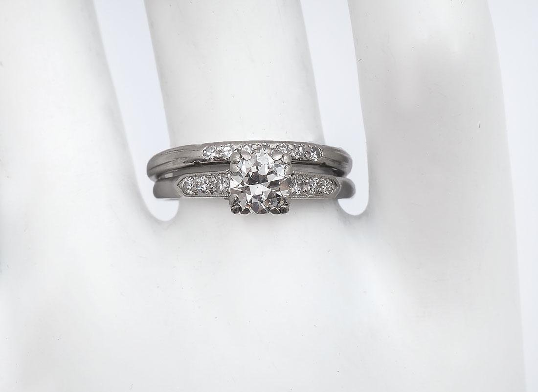 PLATINUM & PALLADIUM DIAMOND RING SET