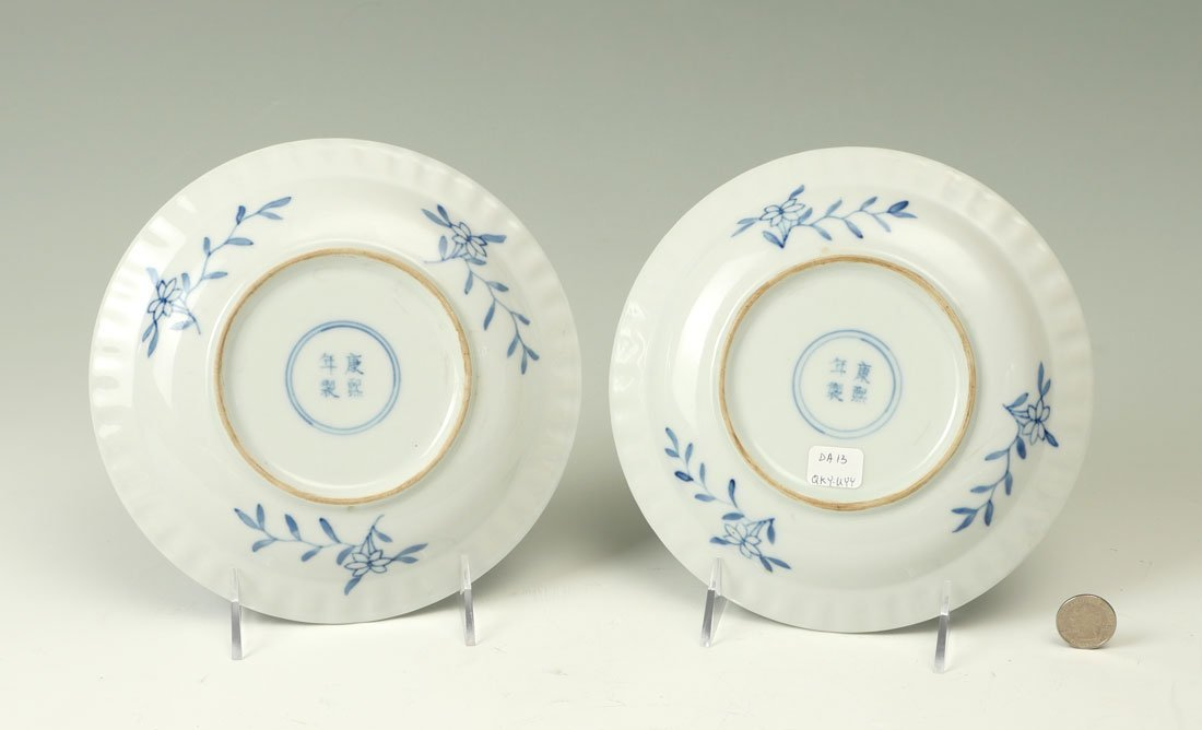 PAIR OF QING DYNASTY BUDDHIST PLATES IN BOX - 3
