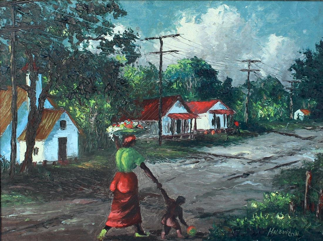 FLORIDA HIGHWAYMEN STREET PAINTING NEWTON