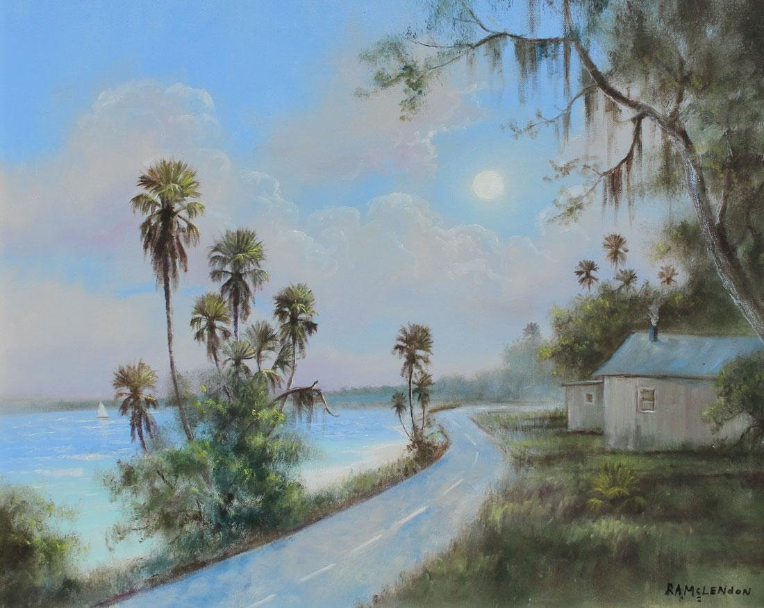 FLORIDA HIGHWAYMEN COAST RD PAINTING