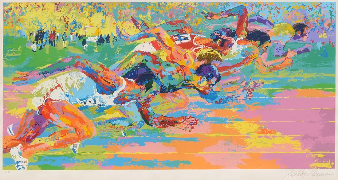 "LEROY NEIMAN ARTIST PROOF SERIGRAPH ""OLYMPIC TRACK"""