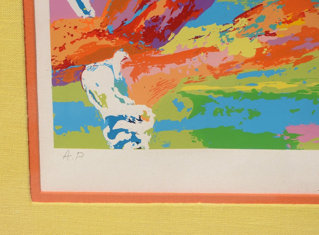 "LEROY NEIMAN ARTIST PROOF SERIGRAPH ""OLYMPIC TRACK"" - 4"