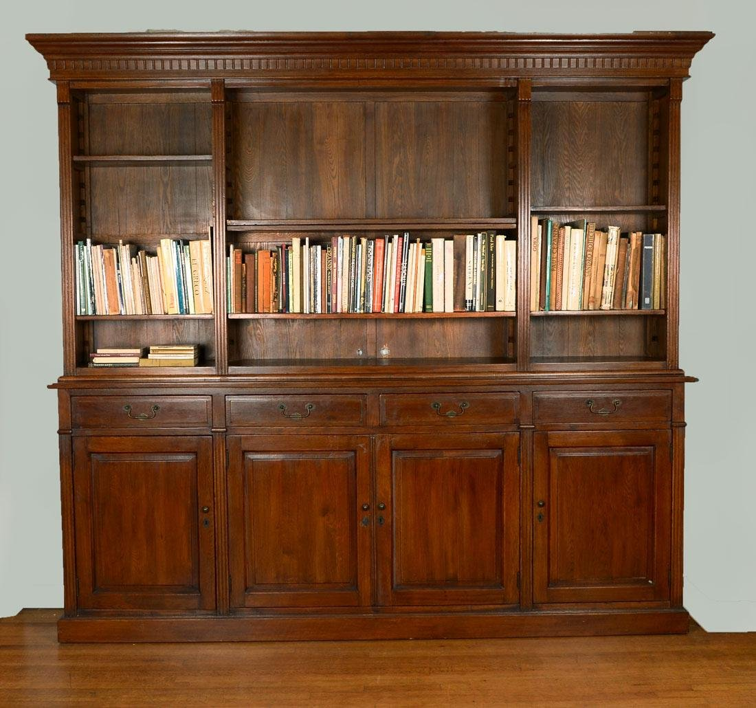 LARGE WOODEN CABINET BOOKCASE
